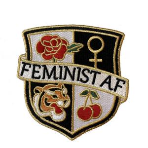 Feminist AF Crest Patch, Black & White