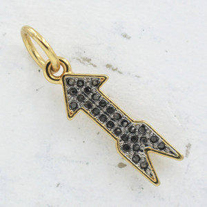 JW00034 Pave Arrow Charm - Wildflower.Co