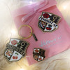 Feminist AF Bundle - Pin Keychain Patch - Wildflower + Co - Black Navy Pink Glitter Gold (1)