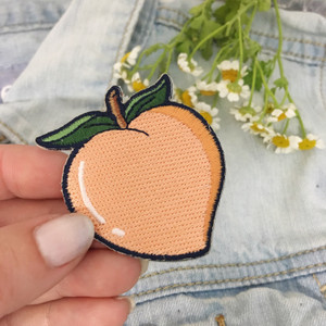 TR00236-MLT-OS Peach Patch Embroidered Iron On Wildflower Co Patches (4)