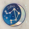 LIBRA - Zodiac Sticker - Star Sign Constellation - Moon & Star - Sky - Astrology - Astronomy - Holographic Vinyl - Stickers for Laptop Water Bottle - Wildflower + Co. - Indiv Sticker -  (12)