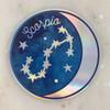 SCORPIO - Zodiac Sticker - Star Sign Constellation - Moon & Star - Sky - Astrology - Astronomy - Holographic Vinyl - Stickers for Laptop Water Bottle - Wildflower + Co. - Indiv Sticker -  (4)