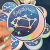 ARIES - Zodiac Sticker - Star Sign Constellation - Moon & Star - Sky - Astrology - Astronomy - Holographic Vinyl - Stickers for Laptop Water Bottle - Wildflower + Co. - Indiv Sticker - Aries Aquarius Cancer Capricorn Leo Libra Gemini Pisces Sagittarius Scorpio Pisces Taurus Virgo
