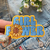 GIRL POWER Patch - Sunflower Patches - Feminist Grl Pwr VSCO - Embroider Embroidered Applique Badge - Wildflower + Co. DIY - USE MULTI (10)