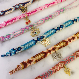 Charm Friendship Bracelet - Wildflower + Co. - Gift for Friend - Cute - VSCO 5