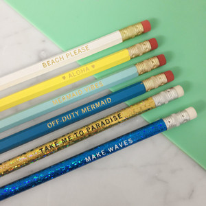 mermaid pencil set - cute - wildflower + co.
