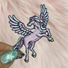 Pegasus Patch - Tiny - Pastel Pink Lilac Unicorn Magical - Cute Girl - Birthday Party Gift - Wildflower + Co (1)