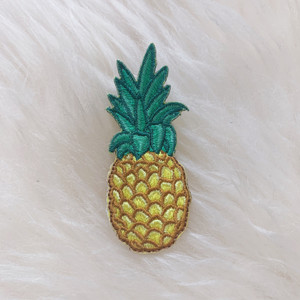 Pineapple Patch - Embroidered Iron On Patches - Yellow Green - Tropical Fruit - Wildflower + Co. DIY (5)