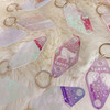 Zodiac Keychains - 70s Vintage Motel Key Tag - Key Ring - Holographic Iridescent Magical AF Cosmic - Wildflower + Co.  (1)