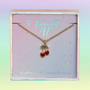 cherry necklace - wildflower + co