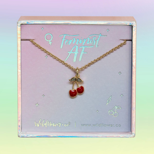 cherry necklace - wildflower + co