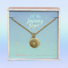 dainty gold compass necklace wildflower