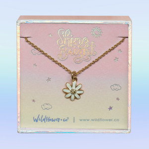 Daisy Necklace - Dainty Gold - Tiny - Everyday - Flower VSCO Nature -8790 crop