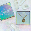 Mountain Necklace - Gold - Sunrise - Camping Adventure Outdoors - Wildflower + Co. Jewelry Gift (2)