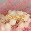 JW00797-GLD-OS Be Kind Necklace Nameplate Gold Vermeil - Positivity Affirmation - Wildflower + Co. Jewelry Gifts (6)