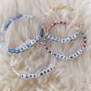 Custom Friendship Bracelet Stack - Alphabet Word Quote Beads - Personalized - Wildflower + Co (1)
