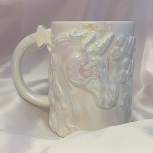 Unicorn Mug - Make Magic - Magic Maker - Cute Funny Mug - White Iridescent - XL Large Oversize - Wildflower + Cup (1)