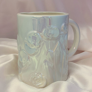 Crystal Flower Floral Orchid XL Coffee Mug - Iridescent - Wildflower + Co.