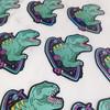 Dinosaur in Space Sticker - Glitter Holographic Vinyl Stickers - Wildflower + Co (1)