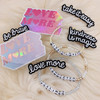 Care Packages Social Distancing - Custom Bracelet Love More Sticker Connected Feelings Love Miss You Enamel Pin Iron On Patch - Wildflower + Co (1)