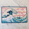 TR00379-MLT-OS Great Wave XL Back Patch for Jackets - Summer Beach Beachy Pink Skies Waves - Wildflower + Co. DIY (30)