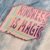 PC00075-MLT-OS Kindness is Magic Glitter Holographic Vinyl Sticker - Peach Pink Aesthetic Stickers - Positivity Be Kind - Stickers for Laptop Water Bottle Hydroflask VSCO - Wildflower + Co
