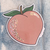 PC00076-MLT-OS PC00075-MLT-OS Peach Glitter Holographic Vinyl Sticker - Peach Pink Aesthetic Stickers -Cute Fruit - Stickers for Laptop Water Bottle Hydroflask VSCO - Wildflower + Co
