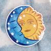 PC00091-MLT-OS Sun & Moon Vinyl Sticker - Cosmic Astrology Astronomy Celestial Magic - Yoga Boho Free Spirit - Aesthetic Stickers - Stickers for Laptop Water Bottle Hydroflask VSCO - Wildflower + Co