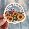PC00084-MLT-OS Be the Sunshine Vinyl Sticker - Yoga Boho Bohemian Positivity Outdoors Mountains VSCO - Aesthetic Stickers - Stickers for Laptop Water Bottle Hydroflask - Wildflower + Co