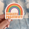 PC00085-MLT-OS Be the Sunshine Vinyl Sticker - Yoga Boho Bohemian Positivity Outdoors Mountains VSCO - Aesthetic Stickers - Stickers for Laptop Water Bottle Hydroflask - Wildflower + Co