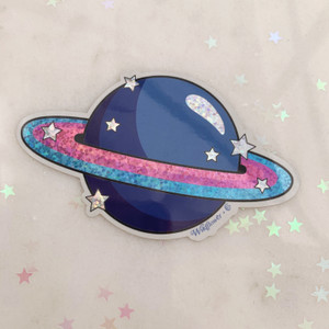 PC00093-MLT-OS Planet Sticker Holographic  Cosmic  Stickers for Laptop Water Bottles - Aesthetic Stickers   Wildflower + Co. - VSCO
