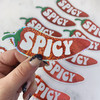 Spicy Pepper Sticker - Glitter Holographic Vinyl - Bright Red - Stickers for Laptop Water Bottle Phone Case - Wildflower + Co (2)