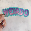 Weirdo Sticker - Glitter Holographic Vinyl - aqua blue lilac purple - Stickers for Laptop Water Bottle Phone Case - Wildflower + Co  (8)