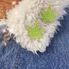 Cosmic Stoner Weed Enamel Pin - Glitter - Marijuana Cannibis Mary Jane - Wildflower + Co (2)