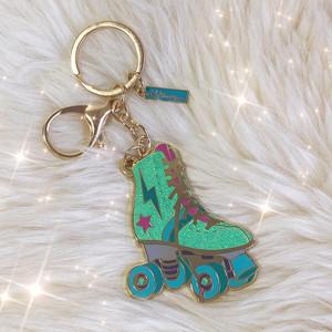 Roller_Skate_Keychain_Bagcharm_Glitter_AC00004-AQU-OS-R_Cutekeychain_VSCO_AQUA_Gift
