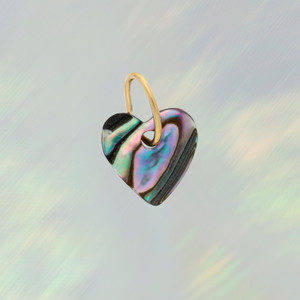 JW00746-MLT-OS - Shell Heart Charm - Abalone or Black (Small) - Charm, Charms, Pendant, Pendants, DIY, Jewelry Making, Jewelry Supplies, Jewelry Making Supplies, Necklace Charm, Bracelet Charm, Charm for Necklace, Charm for Bracelet, Shell Charm, Abalone, Black, heart, Heart charm, Shell heart charm, cute gifts, Positivity, Cute Charms, VSCO