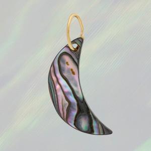 JW00747-MLT-OS - Shell Crescent Moon Charm - Abalone - Charm, Charms, Pendant, Pendants, DIY, Jewelry Making, Jewelry Supplies, Jewelry Making Supplies, Necklace Charm, Bracelet Charm, Charm for Necklace, Charm for Bracelet, Shell Charm - BC CROP