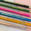 Be Kind Pencil Set - Engraved All You Need is Love Be Kind Kind People are My Kinda People Kindness is Magic Love More Work Hard & Be Nice to People - Co-worker Gift Stocking Stuffer - Wildflower + Co.  (3)