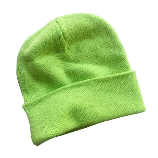 Slouchy_Beanie_Neon_Lime_Green_Cute_DIY_VSCO