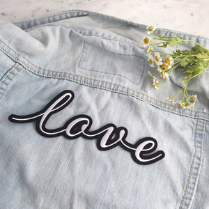 Love Back Patch - Embroidered Patches for Jackets - Wedding Bachelorette Bridal Bride - Wildflower + Co