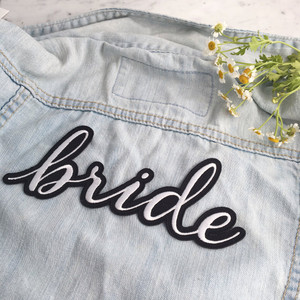 Perfect for the back of jackets, button down shirts, cotton robes + Classic black & white. Wildflower + Co. patches are fully embroidered with iron on backing.