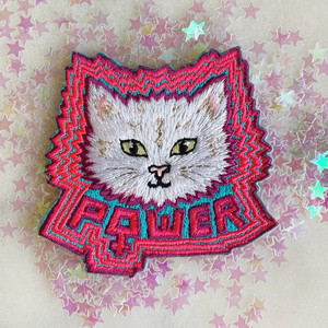 Can you feel the pussy power?! Pussy power iron on patch in choice of 2 cat colors: (1) White or (2) Calico / Multi. Fully embroidered in vibrant colors; note: pink is a gorgeous really bright / neon pink IRL! Wildflower + Co. DIY Patches.