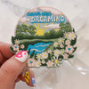 TR00414-MLT-OS - Never Stop Dreaming Patch - Embroidered Patch - Quote Patch - Iron on Patch - Patches for Jackets - Cottagecore - Pastel - Dreamy - Bridal - Romantic - Flower Girl - Aesthetic - Fairycore - Dreamy - Light Academia - Botany - Floral Aesthetic - Aesthetic - Indie - Wildflower Co FLOAT