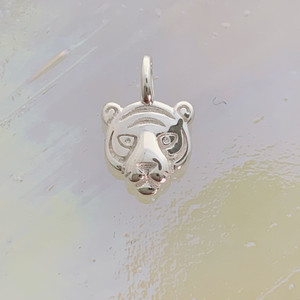 JW00840-SLV-OS Teeny Tiger Charm, Sterling Silver, Dainty Necklace, charm, dainty necklace, delicate necklace, layering necklace, minimalist necklace, simple necklace, tiny charm necklace, gift, tiger, tiger charm, badass, girl power, savage, silver, silver charm, silver necklace