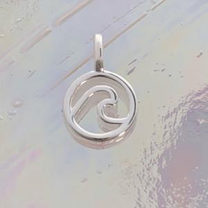 JW00844-SLV-OS Teeny Wave Charm, Sterling Silver, Dainty Necklace, charm, dainty necklace, delicate necklace, layering necklace, minimalist necklace, simple necklace, tiny charm necklace, gift, wave, ocean, wave charm, ocean charm, oceanic, beautiful, aesthetic, silver, silver charm, silver necklace