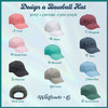 PERSONALIZED BASEBALL CAP HAT - EMBROIDERED MONOGRAM MONOGRAMMED FLORAL INITIAL LETTER - CUSTOM - WILDFLOWER + CO (3)