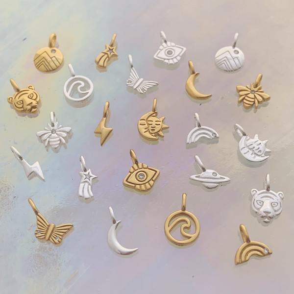 Dainty Charms - Tiny Delicate Jewelry - Dainty Gold - Dainty Silver - Wildflower + Co.