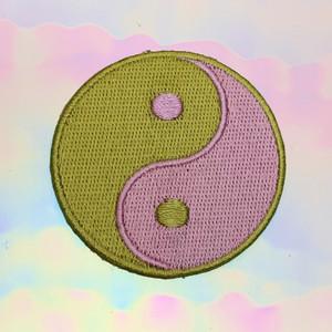 Yin Yang Patch - Lilac & Lime Green