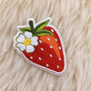 TR00482-RED-OS - Strawberry Patch - Patches, Patch, Iron On, Iron On Patches, Patches for Jackets, Embroidered Patches, Embroidery, Embroidered, Strawberry, Strawberries, Berries, Strawberry Patch, Fruit Patch, Fruit Patches