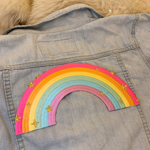 TR00469-MLT-OS - TR00469-MLT-OS - Patches, Patch, Iron On, Iron On Patches, Patches for Jackets, Embroidered Patches, Embroidery, Embroidered, Cute Patch, Adorable Patch, Rainbow, Rainbow Patch, Colorful, Pride